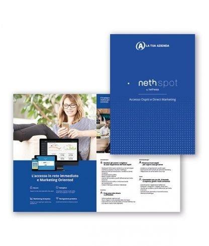 Depliant NethSpot - Personalizzati con il tuo logo